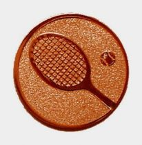 Éremb. TENISZ 25mm bronz   033