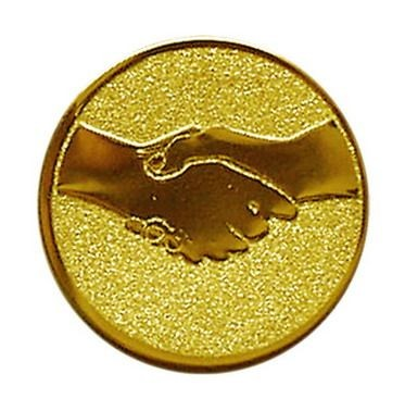 Éremb. KÉZFOGÁS 50mm arany  005