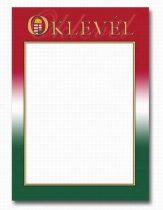 OKLEVÉL A/4 NEMZETI