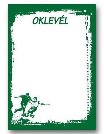 OKLEVÉL A/4 FOCIS ZÖLD