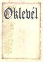 OKLEVÉL A/4 V.BARNA