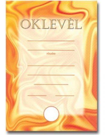 OKLEVÉL A/5 NARANCS