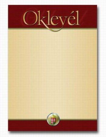 OKLEVÉL A/4 BARNA